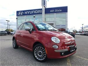2012 Fiat 500 LOUNGE|PANO ROOF|LEATHER|LOW LOW KM