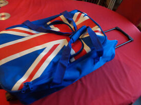 Luggage Bag on wheels with British Flag Pattern