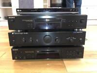 Amplifier, DVD, CD and Mini disc player for sale