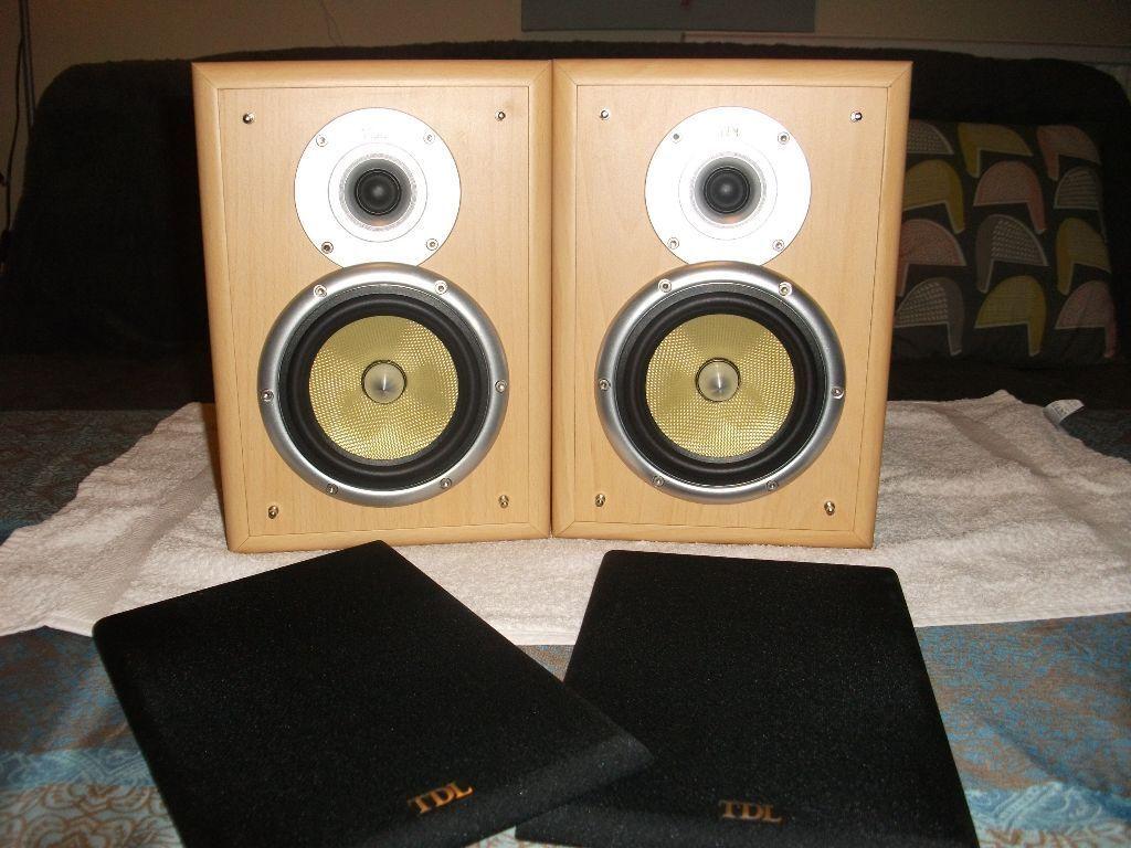 Tdl Nucleus Kv1 Bookshelf Speakers Bi Wire In Norwich Norfolk Subwoofer Wiring On Speaker Amplifier And Home Cinema