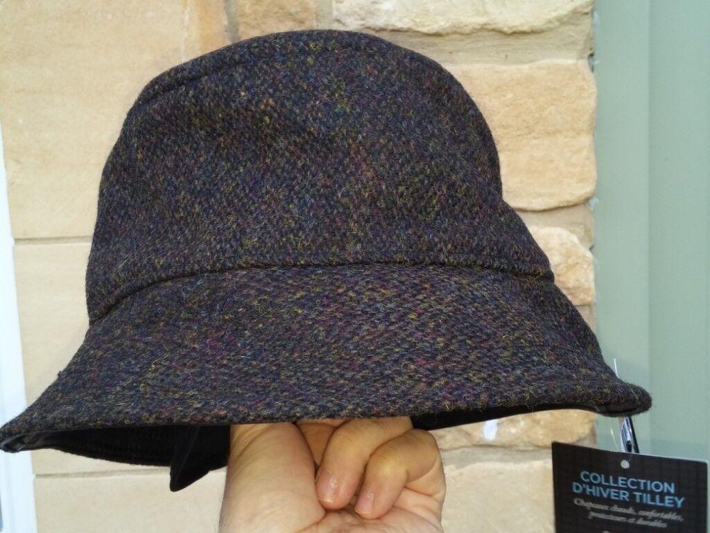 Harris Tweed New Tilley premium Tuckaway Winter Hat -TTH1 - stow-able  earwarmers 2acbfdf6729