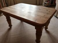 Solid oak coffee table in excellent condition available