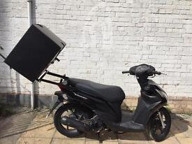 Honda vision pizza box and rear rack