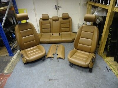 AUDI A6 C6 SALOON 2004-2011 COMPLETE TAN BROWN LEATHER INTERIOR SEATS DOOR CARDS