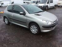 2004 PEUGEOT 206 1.1s ( 3 DOOR ) * 48.000 GENUINE MILES FROM NEW * 1 OWNER FROM NEW * M.O.T JAN 17