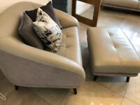 DFS Sofa, Chair and Pouffe for Sale
