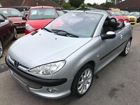 2002/02 PEUGEOT 206CC 2.0 16V SE,SILVER,FOLDING ROOF,GOOD CONDITION LOW MILEAGE LOOKS+ DRIVES WELL