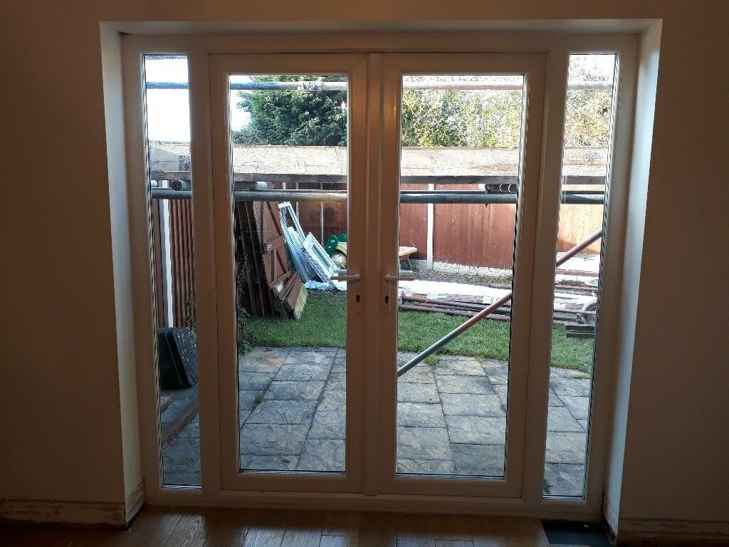 Upvc Patiofrench Doors With Side Panels External Doors Used In
