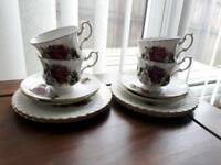 floral vintage style tea cup saucer set wedding