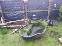 Pond with pumps and filter
