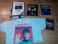 16 x star trek memorabilia sealed calendars / annuals / game / t shirt / books