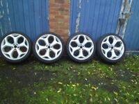 """ford focus st 20"""" genuine ford alloys,,,tyres need changing,,collection only,,west midlands"""