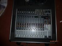 Behringer Xenyx x2222USB Mixer with flight case with a Year Warranty! Hardly Used Like New