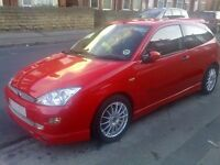 Modified Ford Focus Mk1 - 1.8 Zetec with WRC Bodykit - Red 3 door with Private Reg