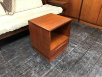 Fresco Bedside Table by G Plan. Retro Vintage Mid Century