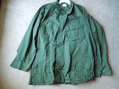 Original Vietnam 1969 BRAND NEW OD Slant-Pocket Jungle Fatigue Jacket Large Long