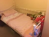 Girls metal frame day bed