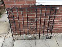 Heavy wrought iron gate