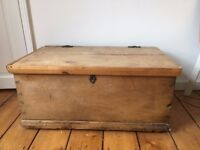 Old antique pine chest/trunk/blanket box. IDEAL TOY BOX OR EXTRA STORAGE