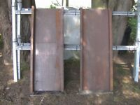UNUSED PAIR OF 4FT H/DUTY STEEL TRAILER RAMPS/CHANNELS...............