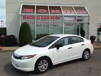 2012 Honda Civic DX * Manuelle * Bluetooth * Certifié