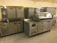 CATERING COMMERCIAL KITCHEN EQUIPMENT BENCH WORK TOP FRIDGE CAFE KEBAB CHICKEN BBQ RESTAURANT SHOP