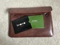 "Knomo | Brown leather 11"" laptop sleeve"