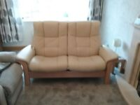 """Leather Buckingham Two Seater """"Stressless"""" Sofa - 2 Years old."""