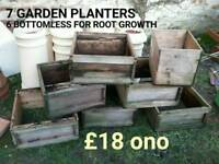 Beehive boxes for planters