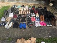 Joblot 60 pairs mixed shoes mixed sizes £60