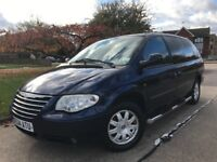 7/8 SEATER AUTOMATIC CHRYSLER GRAND VOYAGER 2.8 CRD DIESEL AUTOMATIC LOW MILAGE 72k,LUXURY FAMILYCAR