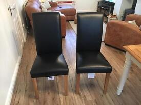 2 Darcy chairs black leather