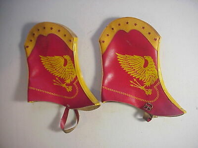 Spats, Gaiters, Puttees – Vintage Shoes Covers PAIR of CHILD'S TOY PATRIOTIC PLEATHER SPATS with EAGLE & STARS $19.39 AT vintagedancer.com