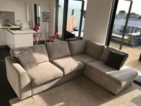DFS 4 Seat Corner Sofa with Fabric Protection