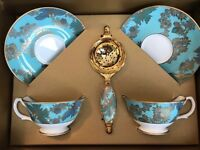 Fortnum & Mason High Tea Cups & Strainer Wedding or Anniversary Gift