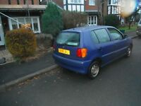 V W Polo 1.4 L,1998,blue,2 lady owners,100 per cent genuine 79k,S/h 16 stamps,every mot,receipt etc