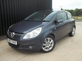 2007 (57) Vauxhall Corsa 1.3 CDTi 16v Design 3dr (a/c) Diesel Service History, 2 Keys May P/x
