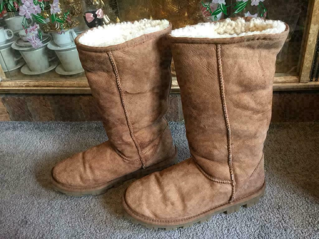 bf2d5463a69 Original UGG boots from Australia suede tan colour uk size 7,5 used v.good  condition £30 | in Leicester, Leicestershire | Gumtree