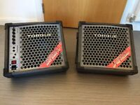 Wedge Monitors - Torque, 1 Powered & 1 Passive