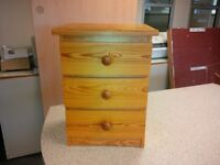 Hardwood bedside unit in oak in good condition only £20