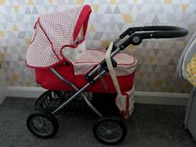 Childrens Silver Cross baby pram with covers and bag