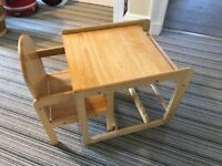 Toddler high chair - desk and chair