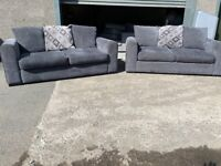 Grey dfs 3 seaters x 2 sofas, couches, furniture 🚛🚚🚛🚚