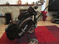 Ladies MacGregor golf clubs DX FULL SET, plus caddy car