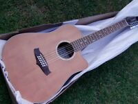 tanglewood 12 string electro acoustic guitar solid top