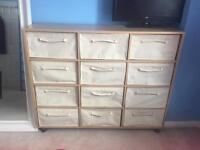 Canvas storage drawers