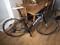 Giant TCR advanced carbon fibre road bike black blue