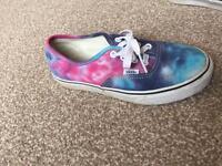 Vans galaxy shoes size 4