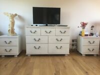 alstons chest of 5 drawers + 2 bedsite cabinets