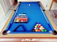 Riley W Leg Pool/Snooker Table.